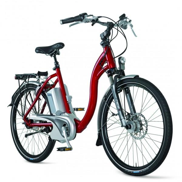e bike flyer c8 deluxe 13 tiefeinsteiger rot mit 13 2 ah. Black Bedroom Furniture Sets. Home Design Ideas