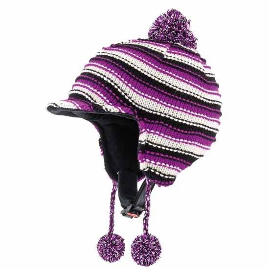Skihelm Alpina BEANIE A9044 weiß-violett mit Mütze 55-58